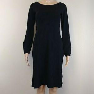 [BCBG] Open Arm Slit Long Sleeve Midi Dress S